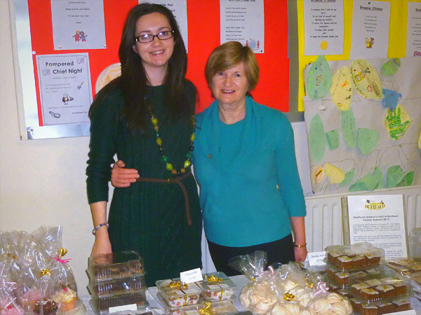 catherine and daphne with their confectionary creations