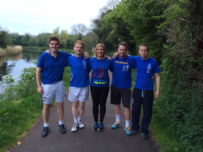 alastair beacom and friends - marathon runners for kindfund