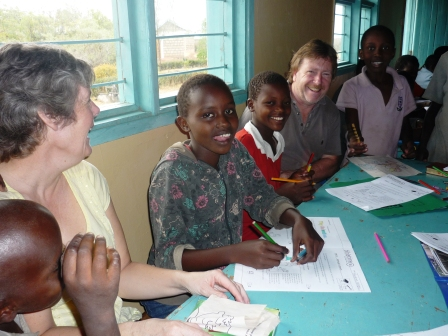 helping with schoolwork - the scotts in kenya