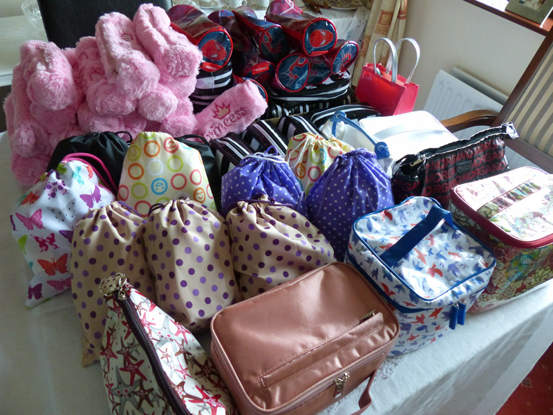 toiletries bags and pencil cases prepared by lylehill gb and bb