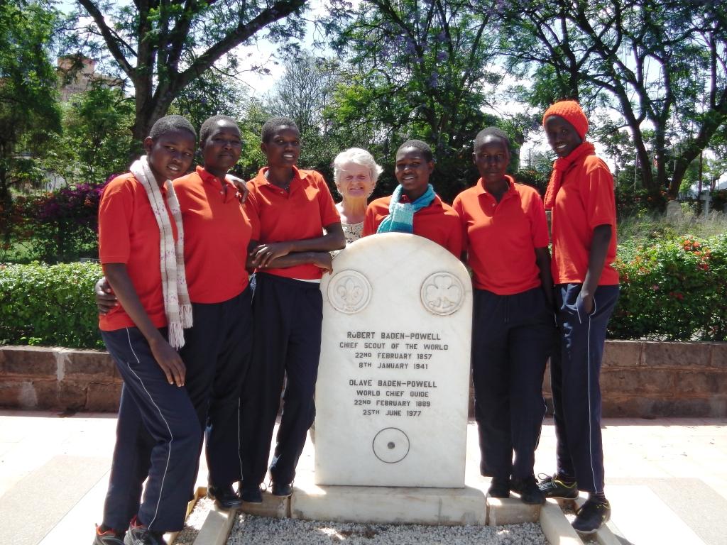 Senior Girls at Baden Powel grave Nyeri