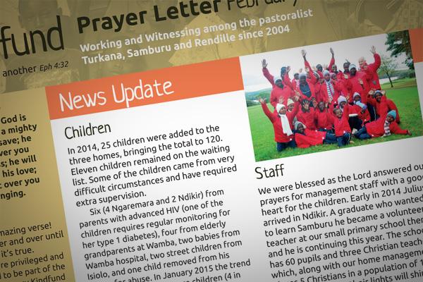 Prayer Letter February 2015