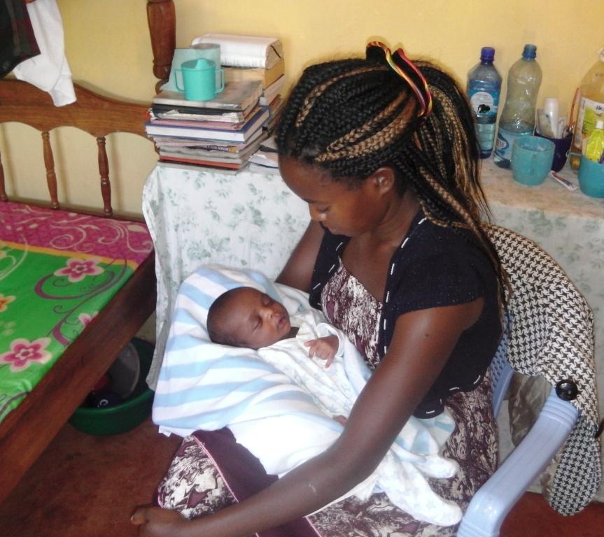 Caleb in his new home at Wamba