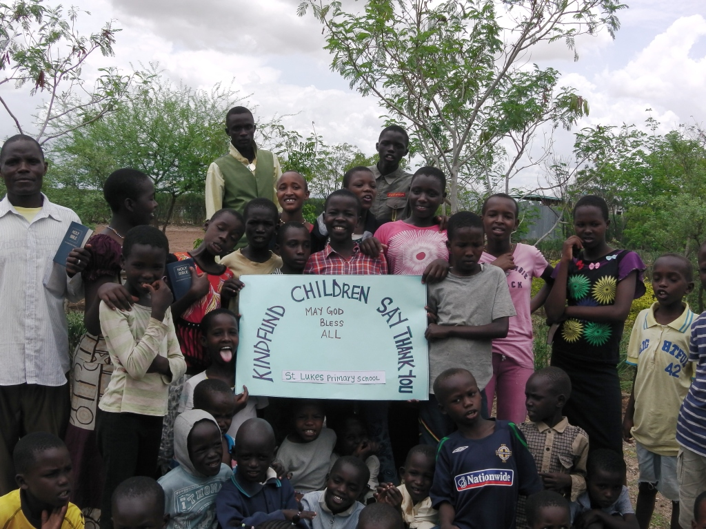thanks from kindfund to st luke's primary school