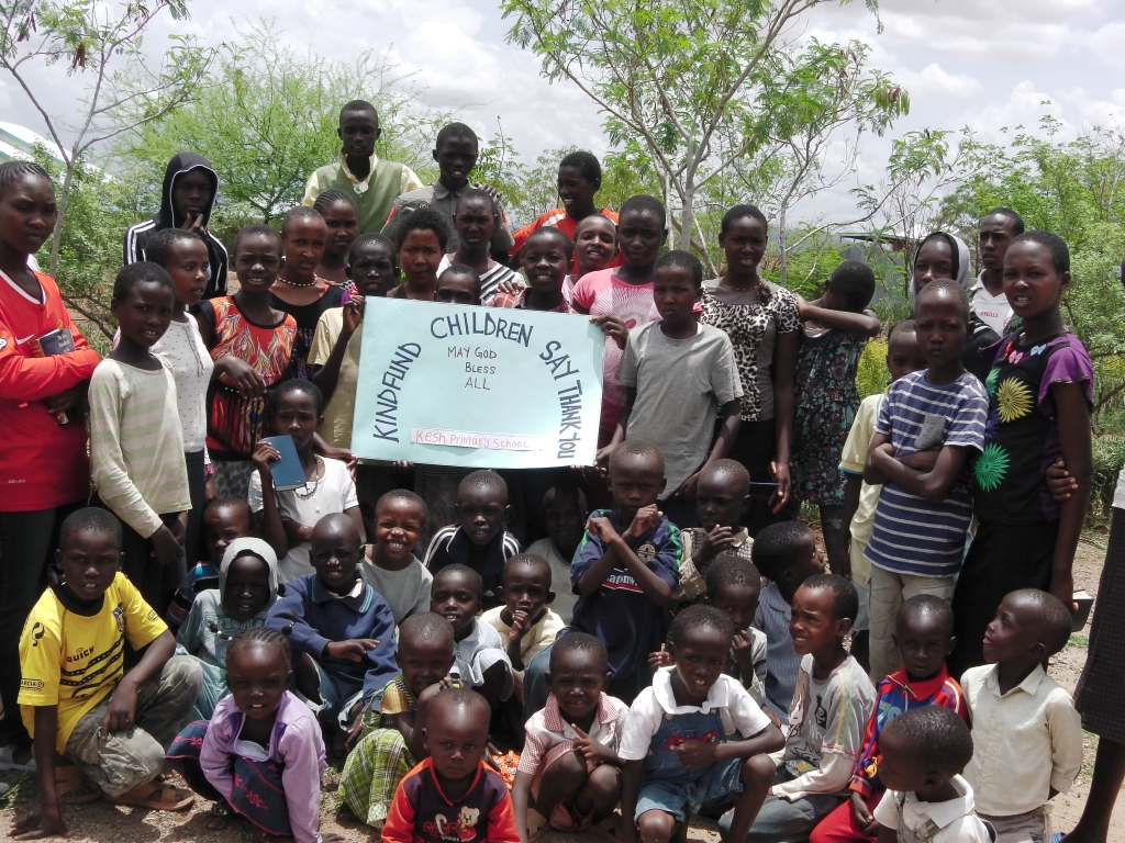 thanks from kindfund to kesh primary school