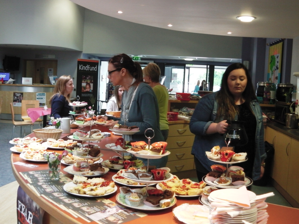 Tray bakes in plenty at West Church coffee morning