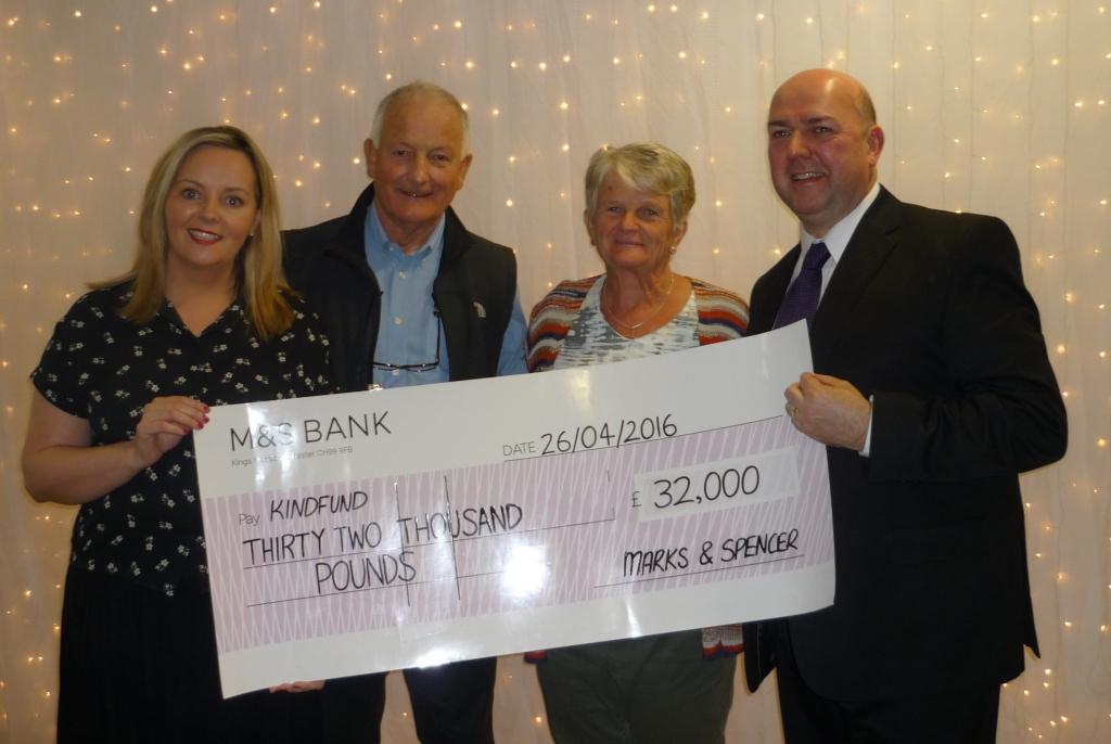 Fundraising cheque presentation