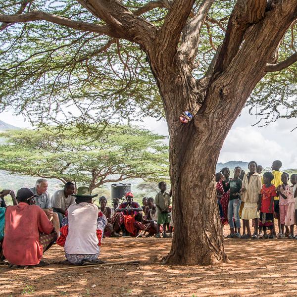 village meeting at ndikir