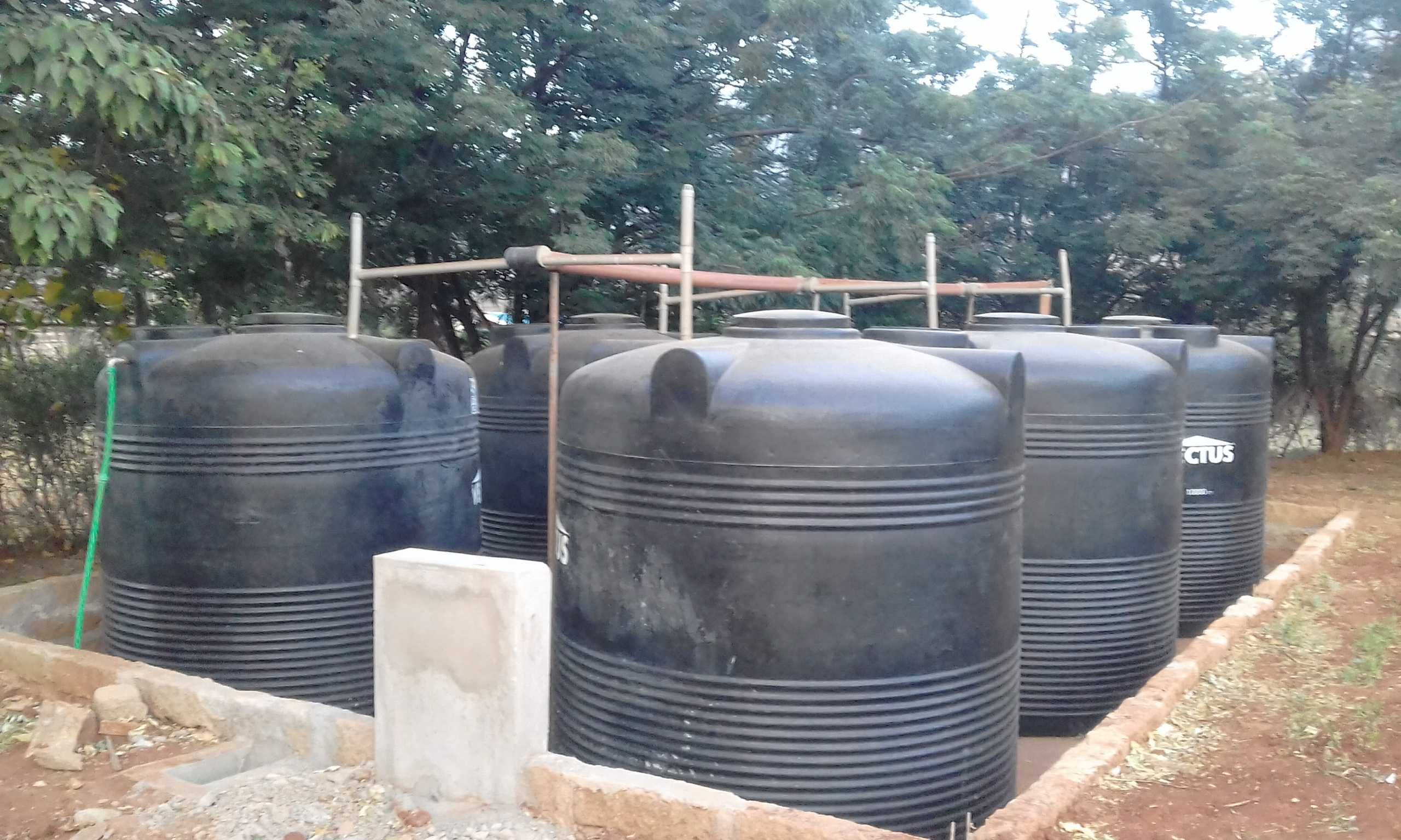 Water harvesting at Wamba