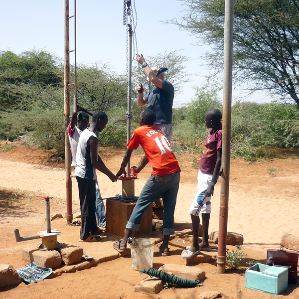 drilling a new borehole