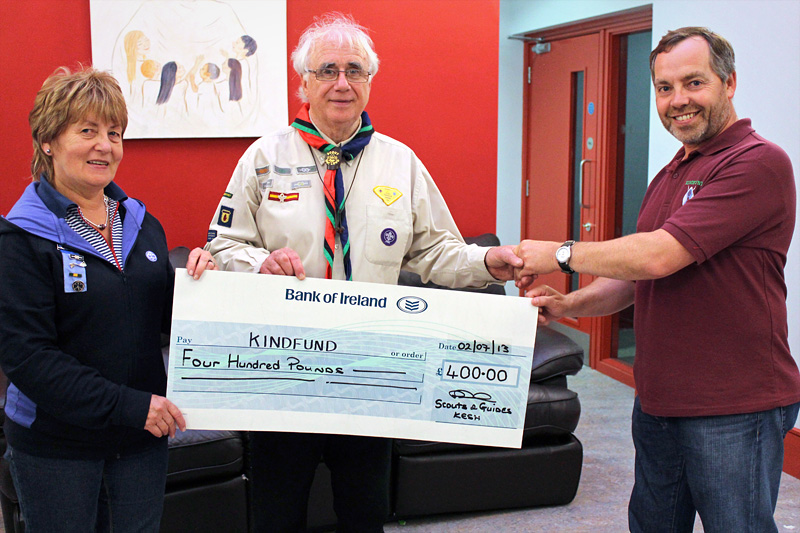 kesh scouts and guides raise 400GBP for kindfund