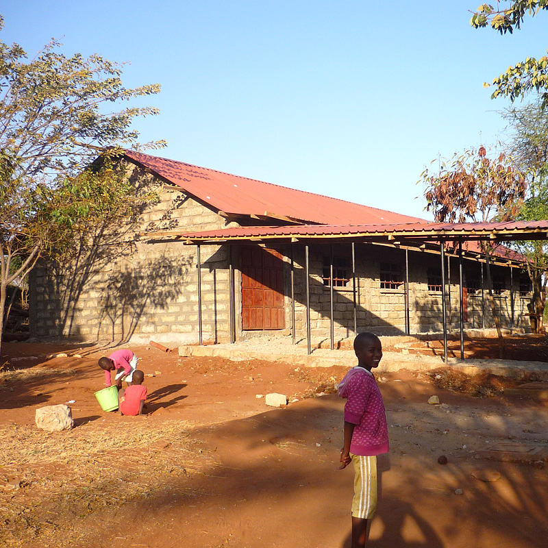 new building almost complete - wamba, sept 2013