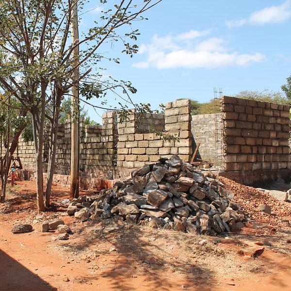 kindfund wamba - construction work underway 2013