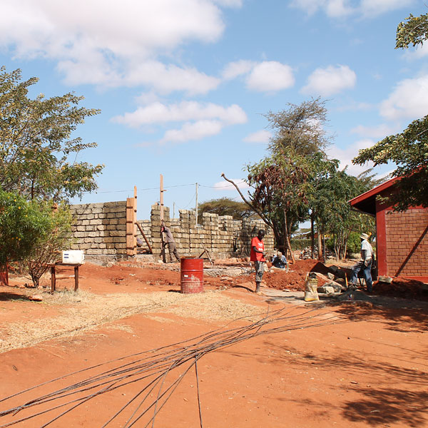 new buildings going up in wamba, kenya 2013