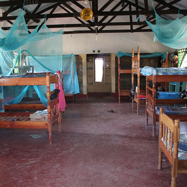 dormitory in ngaremara children's home, kenya