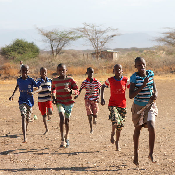 children playing at ngaremara home