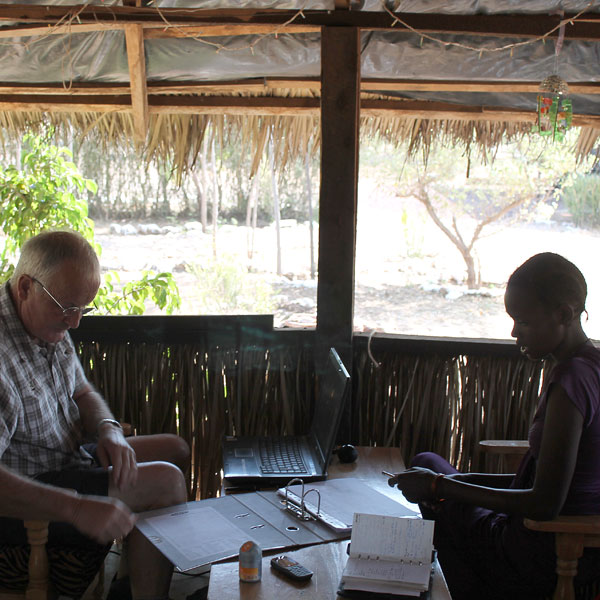 ngaremara home - doing the paperwork