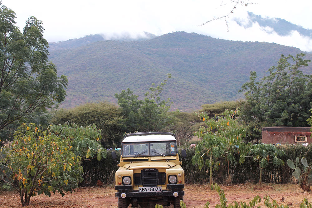 a 'classic' landrover - still going strong