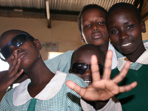children from the deaf school in isiolo, supported by kindfund