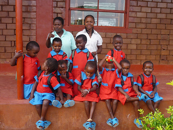 children at kindfund's wamba nursery school